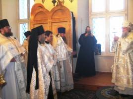 Торжественная литургия 27 января 2012года с.Сулость.