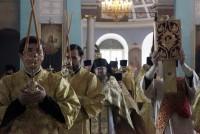 Божественная литургия, совершенная митрополитом Ярославским и Ростовским Пантелеимоном в Спасо-Яковлевском монастыре 12 сентября 2017 г.
