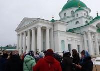 Паломники из Вологодской епархии в Спасо-Яковлевском монастыре, март 2017 г.