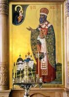 Образ свт. Иакова Ростовского из иконостаса Яковлевского храма Спасо-Яковлевского монастыря.