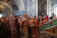 Совершение Божественной литургии митрополитом Пантелеимоном в Спасо-Яковлевском монастыре 9 августа 2017 г.