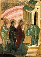 Икона Сретения Господня. Вторая четверть XV века.
