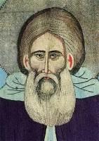 Преподобный Сергий Радонежский. Шитая пелена («первый» покров). Около 1422–1425 гг. Фрагмент.