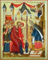 Образ Введения во храм Пресвятой Богородицы.