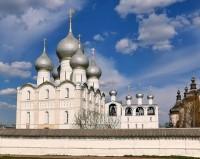 Ростовский Успенской собор и соборная звонница с церковью Входа Господня в Иерусалим