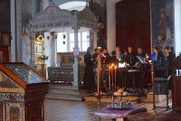 Богослужение в Спасо-Яковлевском монастыре. Апрель 2020 года