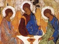 Икона Святой Троицы, созданная иконописцем Андреем Рублевым