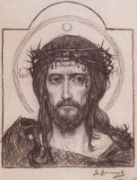 Спаситель в терновом венце. Рисунок В.М. Васнецова 1906 г.