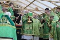 Божественная литургия в день Собора Ростово-Ярославских святых в Спасо-Яковлевском монастыре 5 июня 2015 г.