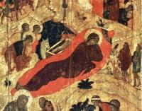 Рождество Христово. Фрагмент иконы.