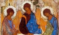 Икона Святой Троицы (фрагмент). Андрей Рублев