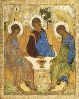Святая Троица. Икона Андрея Рублева. Первая треть XV века.