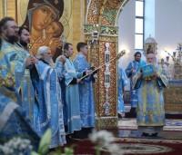 Божественная литургия в Успенском соборе г. Ярославля 28 августа 2015 г.