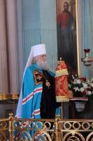 Митрополит Ярославский и Ростовский Пантелеимон в Димитриевском соборе Спасо-Яковлевского монастыря 13 апреля 2015 года