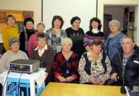 Слушатели лекции вместе с ее автором. М.Л. Рубцовой