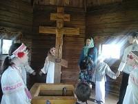 В монастырской часовне, у источника св. Иакова. 31 мая 2015 г.