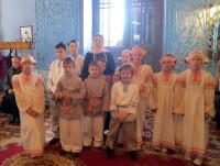 Учащиеся монастырской Воскресной школы. 13 апреля 2015 года