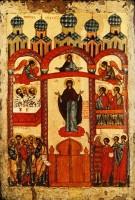 Икона «Покров Пресвятой Богородицы». Новгород, первая четверть XV в.