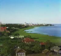 Вид на восток с колокольни на берег озера Неро и Ростовский кремль. Лето 1911 г. Сергей Прокудин-Горский