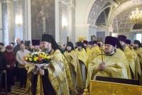 Богослужение в день памяти святителя Димитрия Ростовского в Димитриевском храме Спасо-Яковлевского монастыря