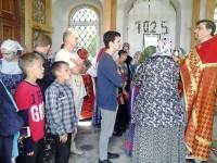 На службе в Боголюбском храме села Филимоново