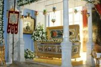 Чудотворный Ватопедский образ Божией Матери у раки святителя Димитрия Ростовского