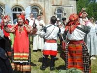 Выступление фольклорного ансамбля «Паветье»
