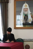 Игумен Савватий (Мызников), настоятель храма Богоявления на Острову в с. Хопылево