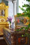 Ватопедский образ Божией Матери – келейный образ святителя Димитрия – рядом с ракой святого
