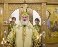 Митрополит Вадим в храме Входа Господня в Иерусалим. 25 апреля. 2011 г.