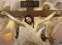 В. М. Васнецов. Распятый Иисус Христос.  Эскиз росписи Владимирского собора в Киеве.