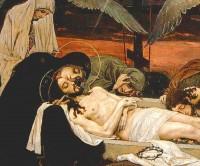 В. М. Васнецов. Оплакивание Христа.  Роспись Владимирского собора в Киеве.