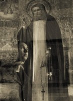Перед образом преподобного Серафима. Фото Вячеслава Лагуткина