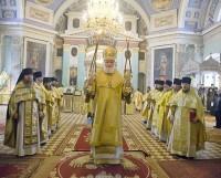 Божественная литургия в Димитриевском соборе Спасо-Яковлевского Димитриева монастыря 4 октября 2021 г.