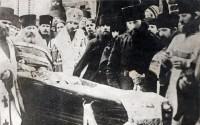 Похороны схиигумена Зосимовой пустыни Германа (Гомзина). 1923 г., январь.
