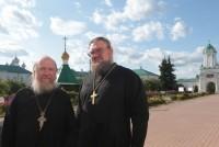 Архимандрит Сильветстр и игумен Августин в Спасо-Яковлевском монастыре