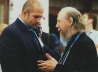 Архимандрит Сильвестр и российский борец, неоднократный чемпион мира Федор Емельяненко
