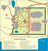 План монастыря