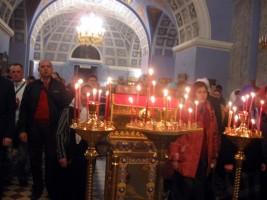 Пасхальное богослужение в Спасо-Яковлевском монастыре