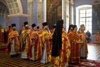 Богослужение Митрополита Пантелеимона в Спасо-Яковлевском монастыре на Светлой Пасхальной седмице 22 апреля 2014 года