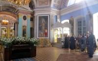 В храме на Богослужении Великой субботы.