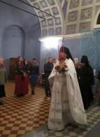 Возвращение крестного хода. Первые возгласы «Христос Воскресе!» в храме.