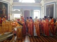 Соборное архиерейское богослужение в Спасо-Яковлевском монастыре в понедельник Светлой седмицы, 2 мая 2016 г.