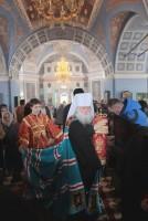 По завершении архиерейского богослужения в Спасо-Яковлевском монастыре 20 апреля 2017 года