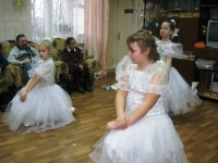 Выступление учеников Воскресной школы в Ростовском центре социальной помощи