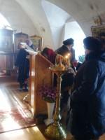 В храме Похвалы Пресвятой Богородицы Петровского монастыря