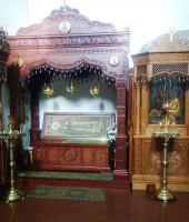 Рака с мощами преподобного Авраамия Ростовского в Никольском храме Богоявленской обители
