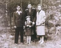 Сергей Лукашенко с родителями и дядей. 1953 г.