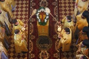Божественная литургия в Димитриевском храме Спасо-Яковлевского монастыря в день памяти Свт. Димитрия Ростовского 4 октября 2012 г.