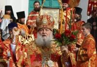Митрополит Пантелеймон. Крестный ход в Спасо-Яковлевском монастыре на Светлой Пасхальной седмице 17 апреля 2012 г.